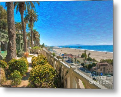 Santa Monica Ca Palisades Park Bluffs Gold Coast Luxury Houses Metal Print