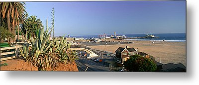 Santa Monica, Overlooking The Beach Metal Print by Panoramic Images