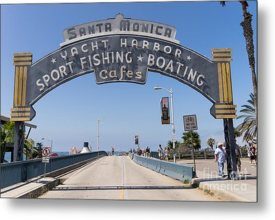 Santa Monica Yacht Harbor At Santa Monica Pier In Santa Monica California Dsc3665 Metal Print