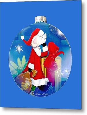 Santa Mouse Child's Shirt Metal Print