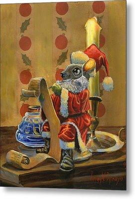 Santa Mouse Metal Print by Jeff Brimley