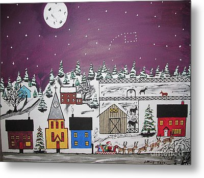 Santa Under The Little Dipper Metal Print by Jeffrey Koss
