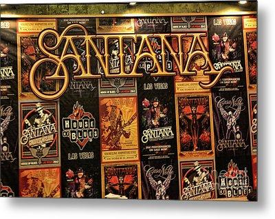 Santana House Of Blues Metal Print by Chuck Kuhn