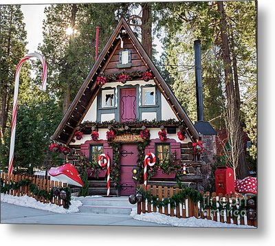 Metal Print featuring the photograph Santa's House by Eddie Yerkish