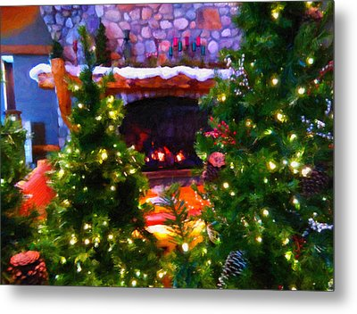 Santa's Living Room Metal Print by Chris Flees