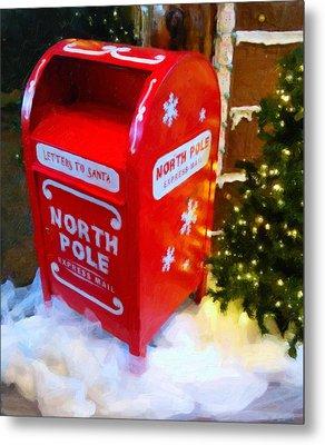 Santa's Mail Box Metal Print by Chris Flees
