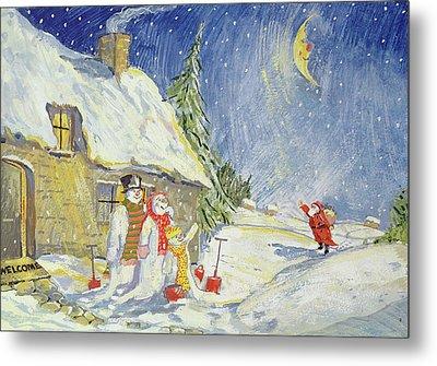 Santa's Visit Metal Print by David Cooke
