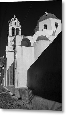 Santorini Church Metal Print by Terence Davis