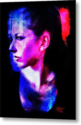 Sarah 2 Metal Print by Mark Baranowski