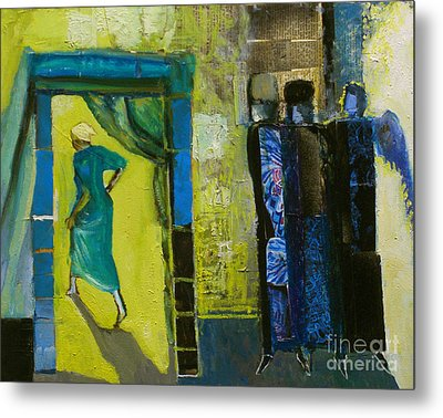 Sarah And The Three Angels Metal Print by Richard Mcbee