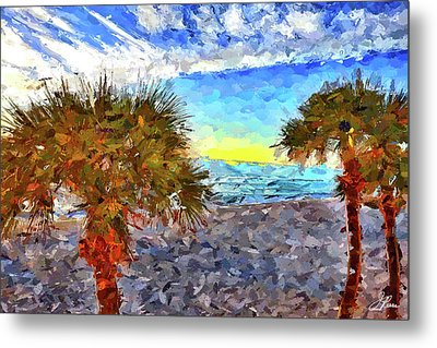 Metal Print featuring the photograph Sarasota Beach Florida by Joan Reese