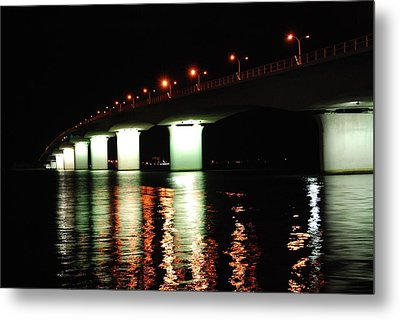 Sarasota Longboat Key Bridge Metal Print by Amanda Vouglas