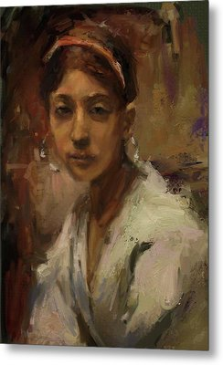 Sargent Study Number 1 Capri Girl Metal Print by Brian Kardell