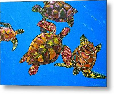 Sarrah's Sea Turtles Metal Print by Patti Schermerhorn