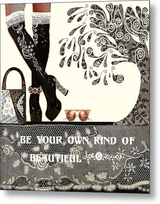 Sassy Boots  II Metal Print by Jenny Elaine