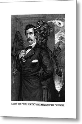 Satan Tempting John Wilkes Booth Metal Print by War Is Hell Store