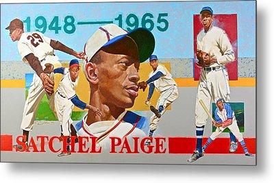 Satchel Paige Metal Print by Cliff Spohn
