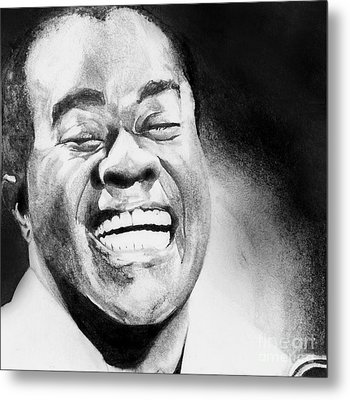 Satchmo Metal Print by Carrie Jackson