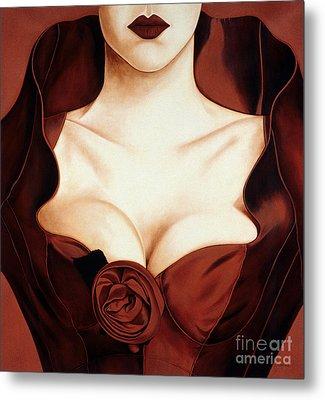 Satin Rose Metal Print by Lawrence Supino