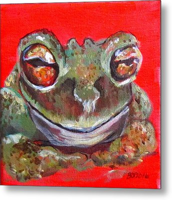 Satisfied Froggy  Metal Print by Barbara O'Toole