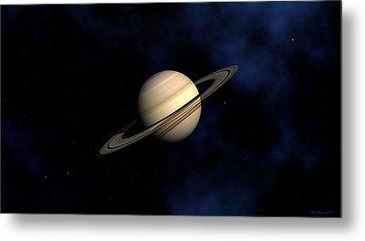 Saturn Metal Print by David Robinson
