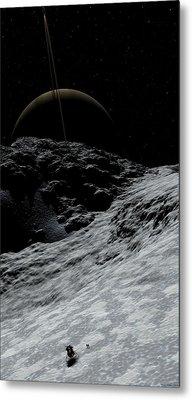 Metal Print featuring the digital art Saturn From Prometheus by David Robinson