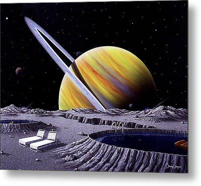 Saturn Spa Metal Print by Snake Jagger