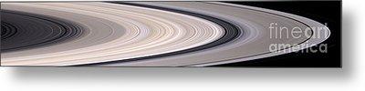 Saturns Ring System Metal Print by Stocktrek Images