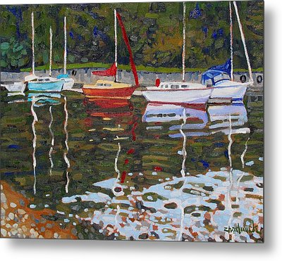 Saugeen Sailboats Metal Print by Phil Chadwick