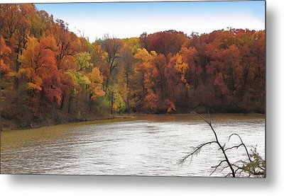 Sauk Lake Autumn Metal Print