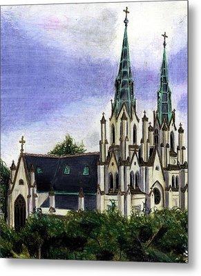 Savannah Cathedral Metal Print by Scarlett Royal