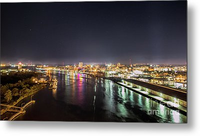Savannah Georgia Skyline Metal Print