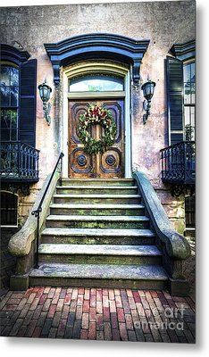 Metal Print featuring the photograph Savannah House 5 by Anthony Baatz
