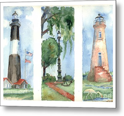 Savannah Lighthouses Metal Print