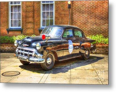 Savannah Police Car 1953 Chevrolet  Metal Print by Reid Callaway