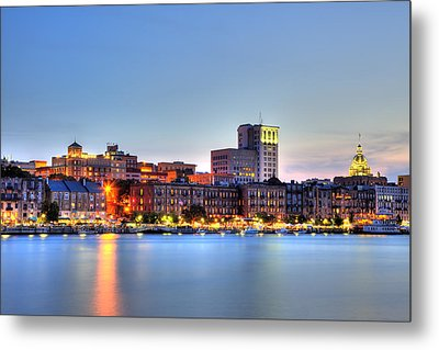 Savannah Skyline Metal Print