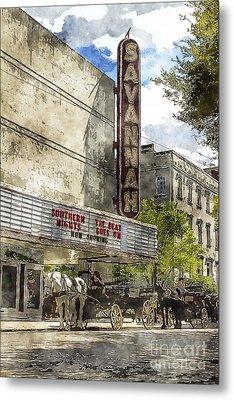 Savannah Theatre Metal Print by Carrie Cranwill