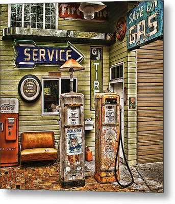 Save On Gas Metal Print