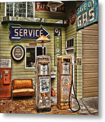 Save On Gas Metal Print by Dale Stillman