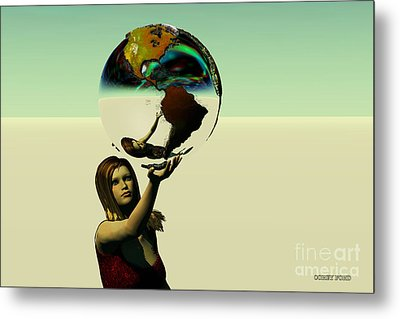 Save The Earth Metal Print by Corey Ford