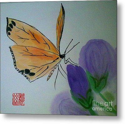 Save The Monarchs Metal Print