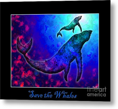 Save The Whales Metal Print by Nick Gustafson