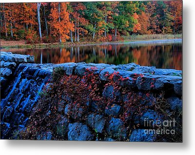 Sawmill Lake In Autumn Metal Print by Matthew Winn