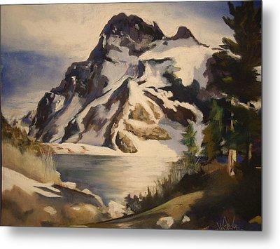 Sawtooth Mountain Lake Metal Print by Debbie Anderson