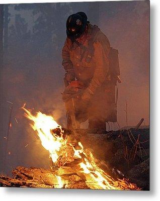 Sawyer, North Pole Fire Metal Print