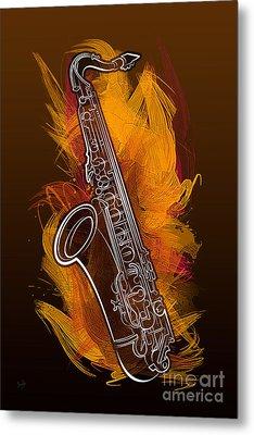 Sax Craze Metal Print by Bedros Awak
