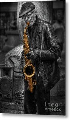 Sax Love Metal Print by Yhun Suarez