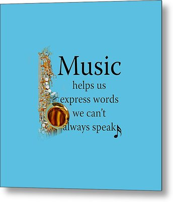 Saxophones Express Words Metal Print by M K  Miller