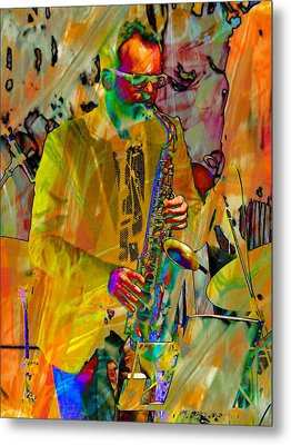 Saxophonist Metal Print by Dorothy Berry-Lound