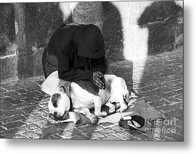 Say A Prayer In Prague Metal Print by John Rizzuto